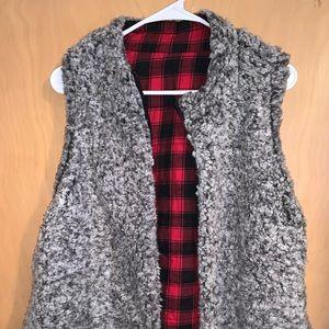 Reversible Sherpa vest